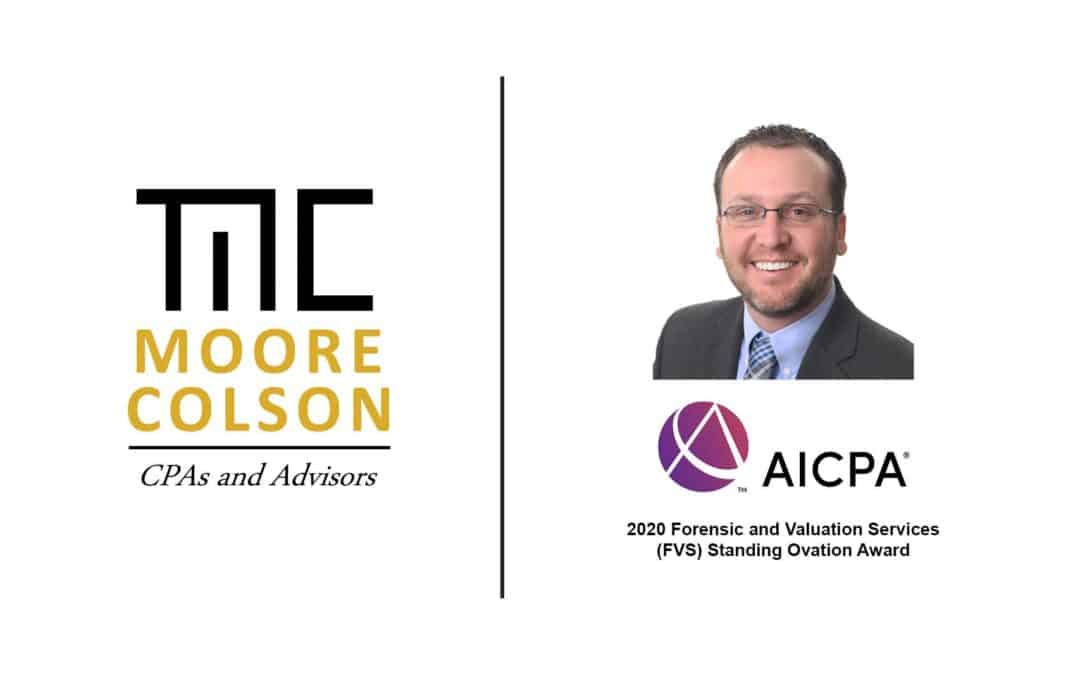 Moore Colson Director Tyler Wright Recognized as AICPA 2020 Standing Ovation Award Recipient