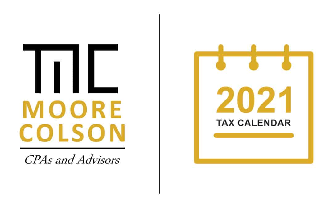 2021 Tax Calendar: What you need to know
